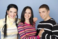 соединенный портрет друзей счастливый Стоковое фото RF
