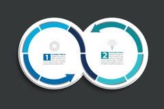 2 соединенных круга стрелки Элемент Infographic Стоковая Фотография RF