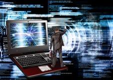 соединитесь Компьютерная технология поколения новая соединение стоковая фотография rf