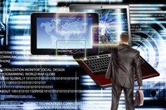 соединитесь Компьютерная технология поколения новая соединение стоковое изображение rf