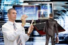 соединитесь Компьютерная технология поколения новая соединение Стоковые Изображения RF