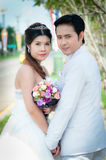 соедините венчание парка стоковое фото rf