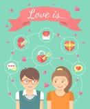 соедините влюбленность Стоковое Изображение RF