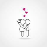 соедините влюбленность Стоковые Изображения RF