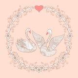 Соедините лебедей в мандалу бесплатная иллюстрация