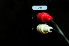 Соединители дикторов штепсельной вилки Стоковые Изображения RF