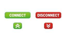 Соедините кнопки разъединения Стоковое Изображение RF