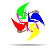 Соедините красочные стрелки вектора Стоковое фото RF