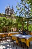 Соедините обедать на ресторане в дворце и садах Regaleira стоковое фото
