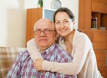 соедините пожилых людей Портрет Стоковая Фотография