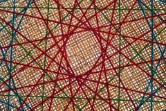 Соедините пряжу knit пестротканую с местными ремеслами Стоковые Фотографии RF