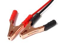 Соединительные кабели на белизне Стоковая Фотография