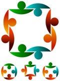 соединяет логос Стоковая Фотография