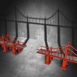 Соединять мост иллюстрация штока