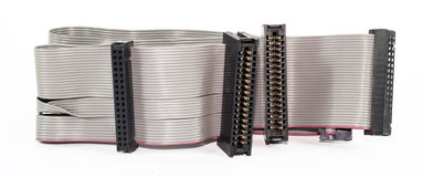 Соединяясь кабели и переходники Стоковое Изображение RF