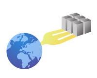 соединяясь мир сети серверов Стоковое Изображение