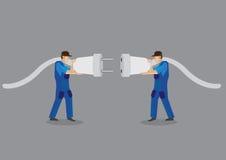 Соединяясь мужская штепсельная вилка к женским jacks Стоковое фото RF