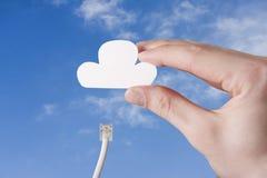 Соединяя облако Стоковое Изображение