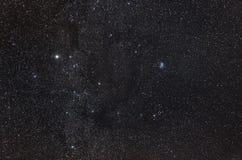 Созвездие зодиака Тавра в небе звездной ночи Стоковое Изображение