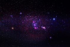 Созвездие Ориона с межзвёздным облаком M42 стоковые изображения rf