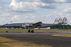 """Созвездие Breitling Lockheed L-1049F супер """"Star  HB-RSC Switzerland†стоковые изображения"""