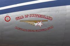 "Созвездие Breitling Lockheed L-1049F супер ""Star  HB-RSC Switzerland†стоковое фото rf"