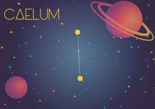 Созвездие Caelum стоковое изображение