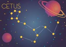 Созвездие Cetus Стоковая Фотография RF