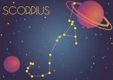 Созвездие Scorpius стоковое изображение