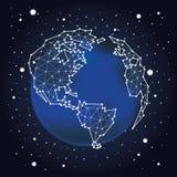 созвездие звезды планеты земли предпосылки полные космос Стоковое Фото