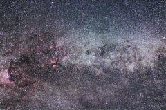 Созвездие млечного пути и Cygnus Северный крест Стоковое Изображение