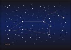 созвездие leo Стоковое Изображение RF