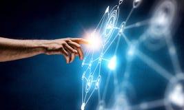Создавать беспроводные технологии Мультимедиа Стоковое Изображение