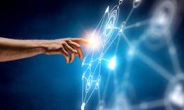 Создавать беспроводные технологии Мультимедиа Стоковые Изображения RF