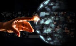 Создавать новаторские технологии Мультимедиа Стоковое Изображение RF