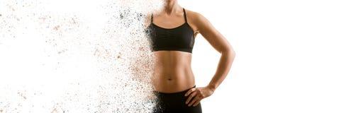 Создавать совершенную женскую концепцию верхнего тела стоковое фото rf