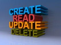 Создайтесь прочитайте шрифт удаления обновления смелейший в цветах иллюстрация штока