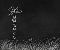 Создайте искусство doodle маргаритки текста иллюстрация штока
