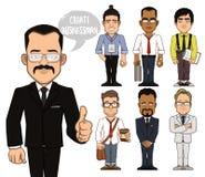Создайте характеры бизнесмена Часть 2 иллюстрация штока