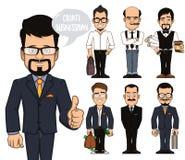 Создайте характеры бизнесмена иллюстрация штока