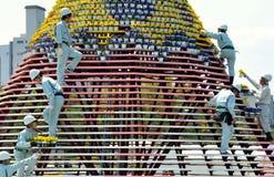 создание людей hiroshima цветка празднества Стоковая Фотография RF