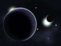 созданное цифровое starfield Стоковое фото RF