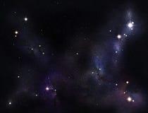 созданное цифровое starfield Стоковое Изображение RF