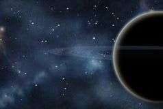 созданное цифровое starfield иллюстрация штока