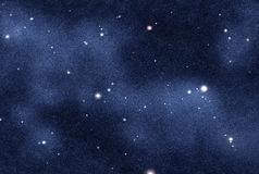 созданное цифровое starfield Стоковая Фотография RF