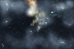 созданное цифровое starfield Стоковые Изображения