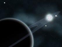 созданное цифровое starfield Стоковое Изображение