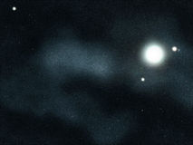 созданное цифровое starfield Стоковые Фотографии RF