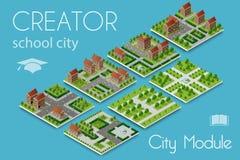 Создатель модуля города иллюстрация штока