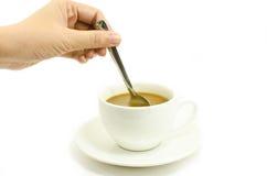создатель руки кофе Стоковое фото RF